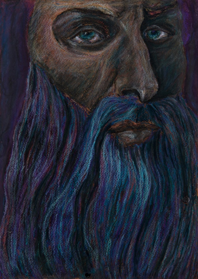 Title davinci   Medium 	pastel on paper   Size 	30 20 cm