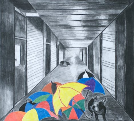 "Title:Wylie's World Medium:	charcoal and pastel Size:	""27 x 24"""