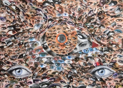 Title:The Third Eye Medium:Collage Size:20 Inches x 25 Inches