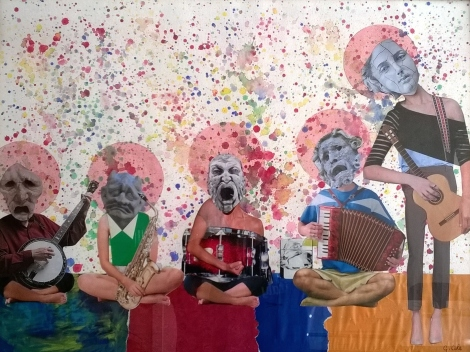 Title:The Nightmare band Medium:	Mixed Media Size:	18 Inches x 24 Inches