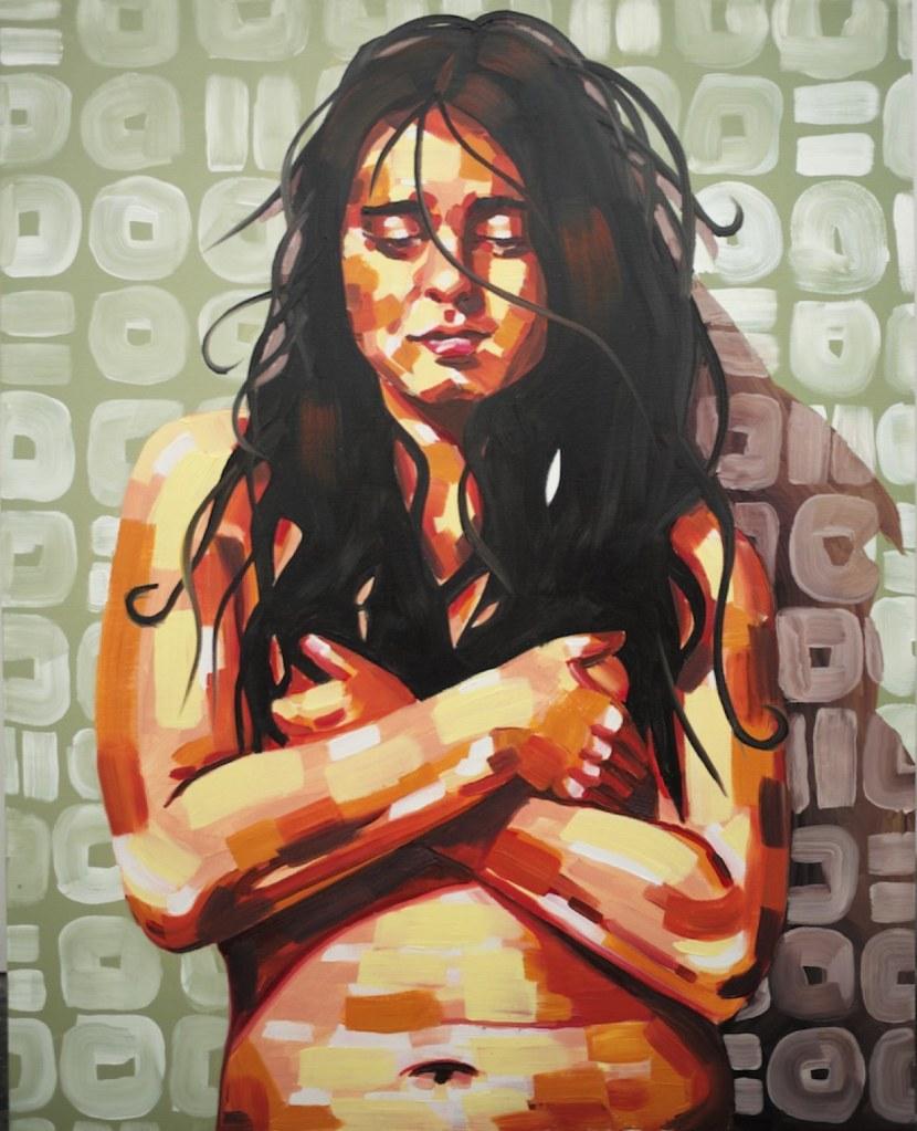 Title:Artist's self portrait Medium:Oil on Canvas Size:12in x 12in