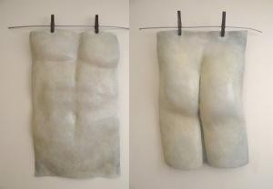 "Title:Hanging Out #1,#2 Medium:Bronze sculpture Size:18""x12""x4"" each"
