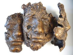 "Title:Juxtaposing Views Medium:Bronze Sculpture Size:10""x7""x4"""