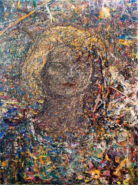 Title:Portrait of Rimma Simonova Medium:	Acrylic, mixed media on canvas Size:	40 x 30 inches
