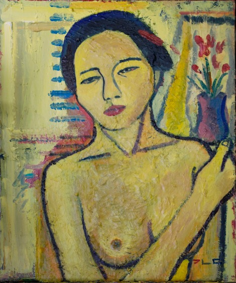 Title:Yellow Nude Medium:	Acrylic on canvas Size:	60 x 73 cm