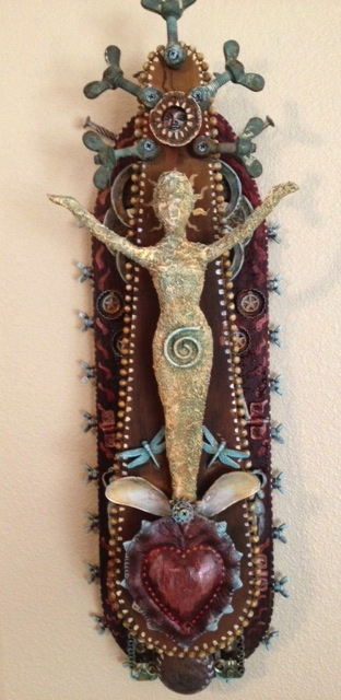 """Title:Shrine of the Womb Medium:found object Size:10x28"""""""
