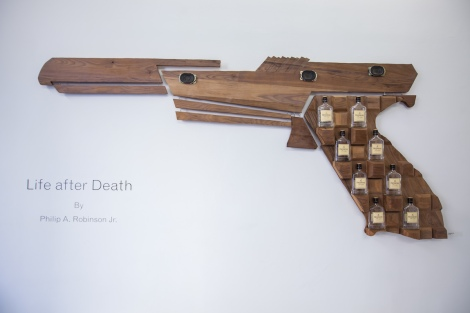 Title:Feburary 16, 2006 Medium:	Wood, Metal, Glass Size:	7'x4'