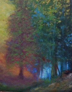 Title:Blue Light Medium: Acrylic on canvas board Size:40X50cm