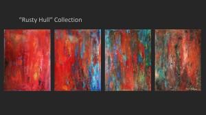 "Title:Rusty Hull Triptych Medium:Oil Size:12""x16"""