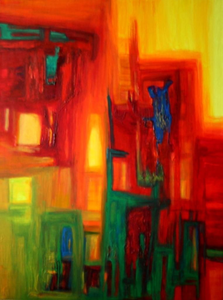 Title:Transmigration Medium:Acrylic on canvas Size:31/24 inch