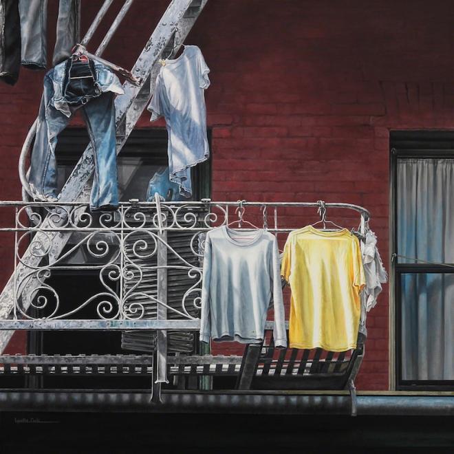 "Title:Twosome Medium:Acrylic on Canvas Size:24"" x 24"""