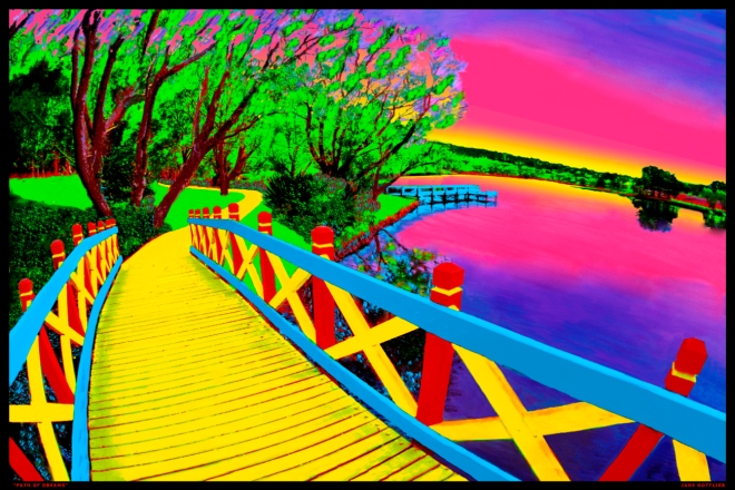 Title:Bridge of Dreams Medium:	Photoshop enhanced photography Size:	20 x 30