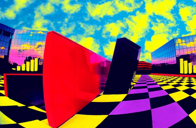 Title:Checkerboard Square Medium:	Photoshop enhanced photography Size:	20 x 30