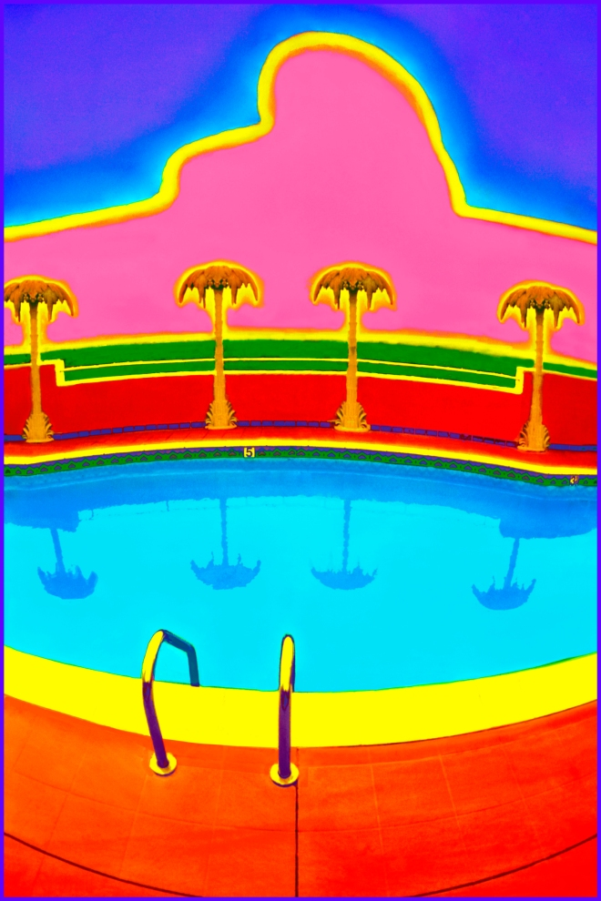 Title:Hollywood Pool Medium:	Photoshop enhanced photography Size:	30 x 20
