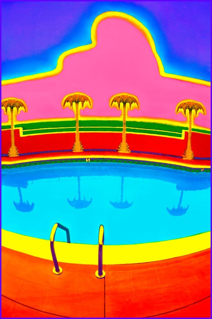 Title:Hollywood Pool Medium:Photoshop enhanced photography Size:30 x 20