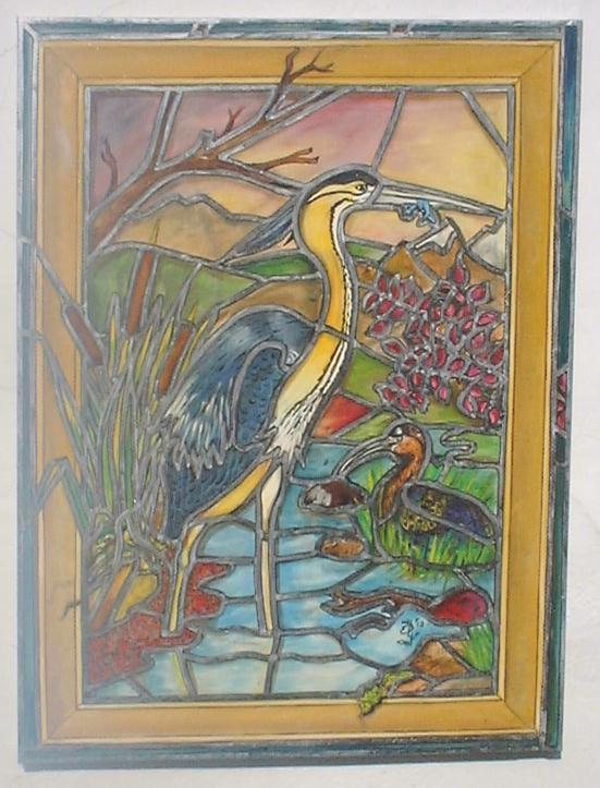 Title:The Heron Medium:Oil on canvas Size:	3ft x 4ft
