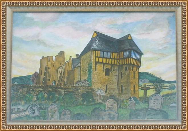 Title:Stokesay Castle Medium:Acrilic Size:24inch x 26inch