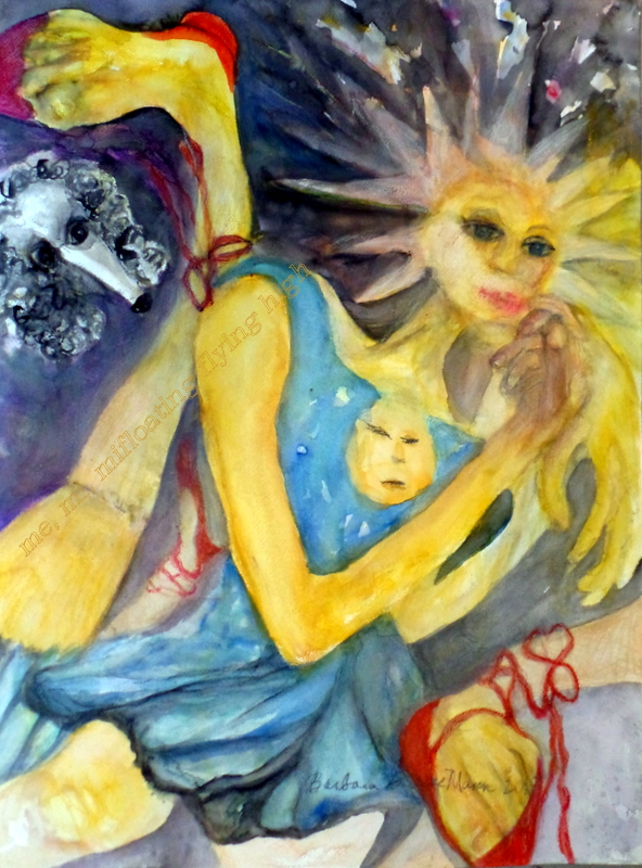 Title In the Stars   Medium 	watercolor and pencil   Size 	18 x 24""
