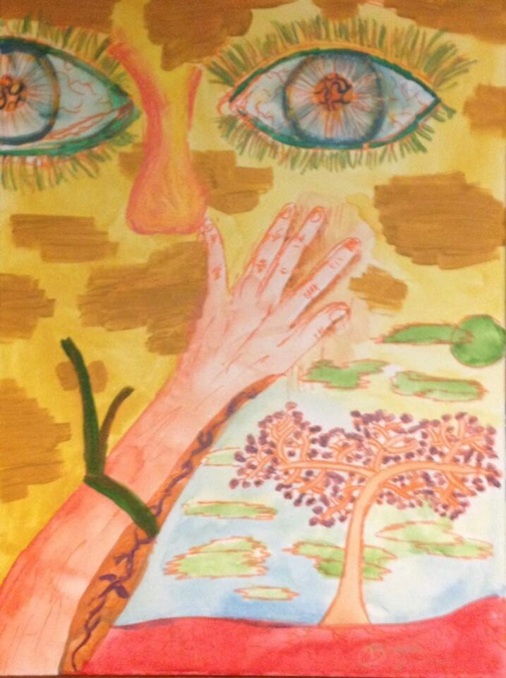 """Title: Becoming Nature Medium: Acrylic Size: 24"""" by 18"""" (114 KB)"""