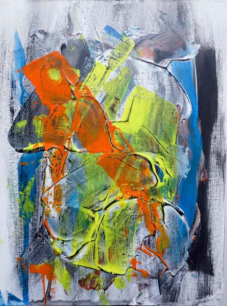 Title:Orange 1 Medium:Acrylic Size:31x23cm