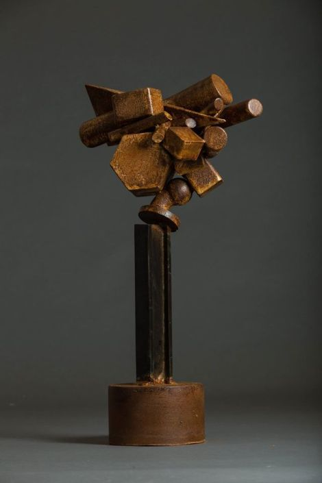 Title:Traffic Jam Medium:Steel, bronze Size:2.5' x 1.5' x 1.5'