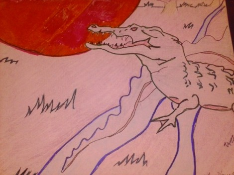 Title:i am the nile river Medium:acrylic Size:8x10