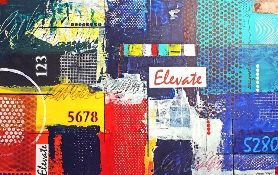 Title:Elevate Medium:Mixed media on illustration board Size:20 x 30