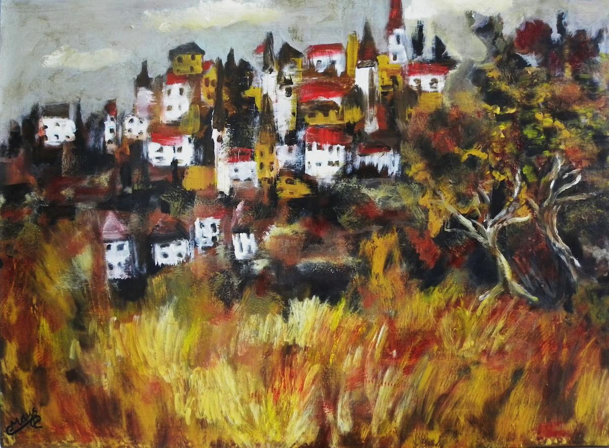 Title: The Village Medium: Acrylic Size: 30x22