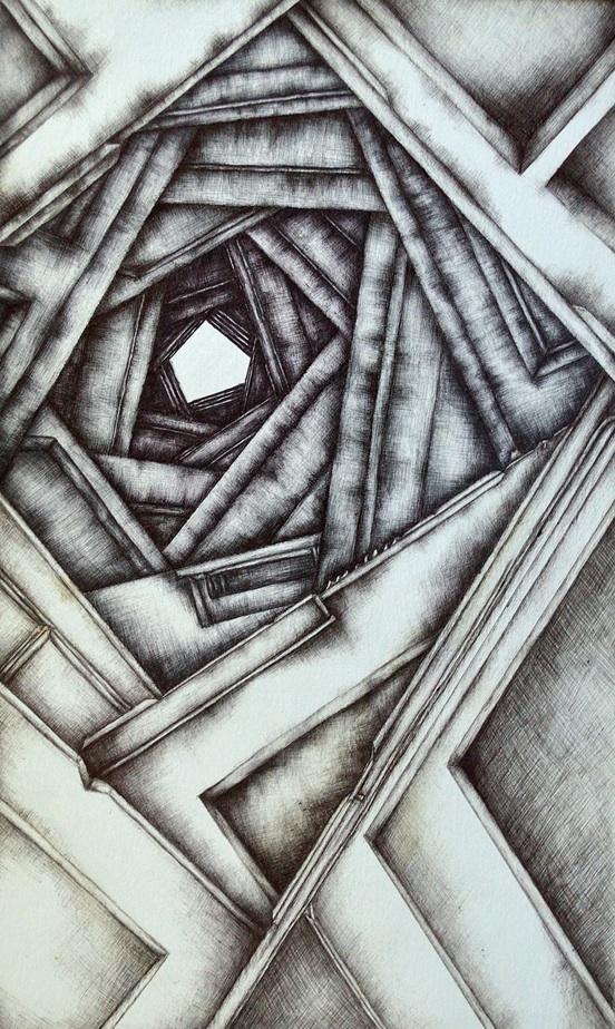 Title:Doorways Medium:Ballpoint pen Size:9x15