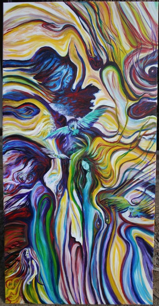 "Title:Wind Whispers to My Soul Medium:	Acrylic Size:	30""x20"""