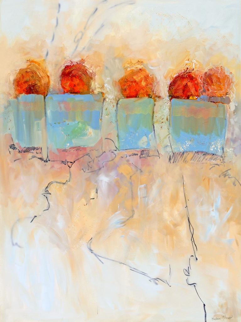 Title:Emphasis on Circles Medium:acrylic painting Size:48x36