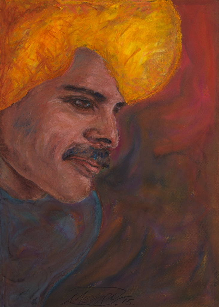 Title:INSPIRATION james brown Medium:pastel on paper Size:30x20 cm