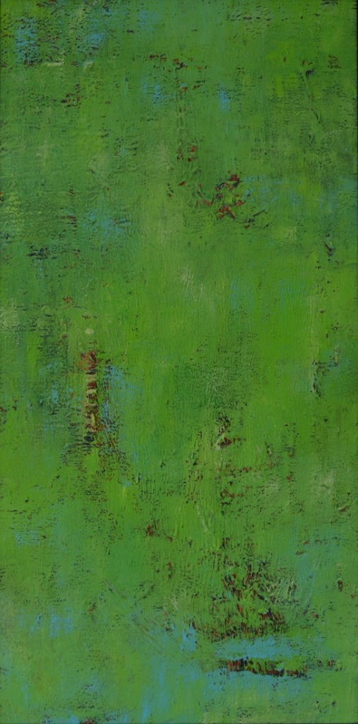 """Title:Green Over Red #1 Medium:Acrylic Size:15"""" x 30"""""""