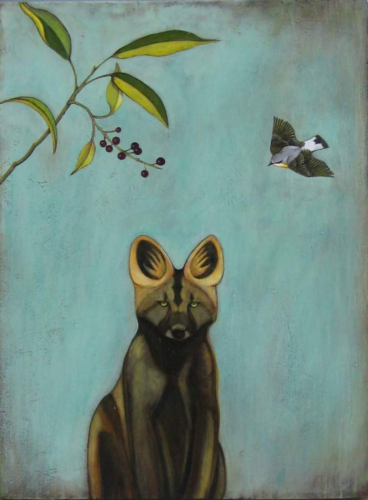 Title:Puppy Medium: acrylic and oil Size: 40x30 inches