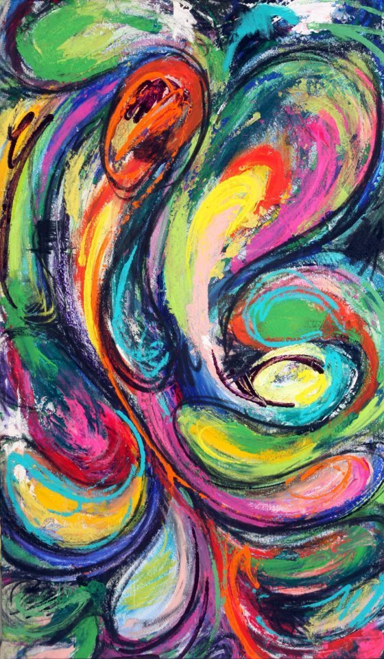 """Title:Elements: movement Medium:acrylic Size:36""""x60"""""""