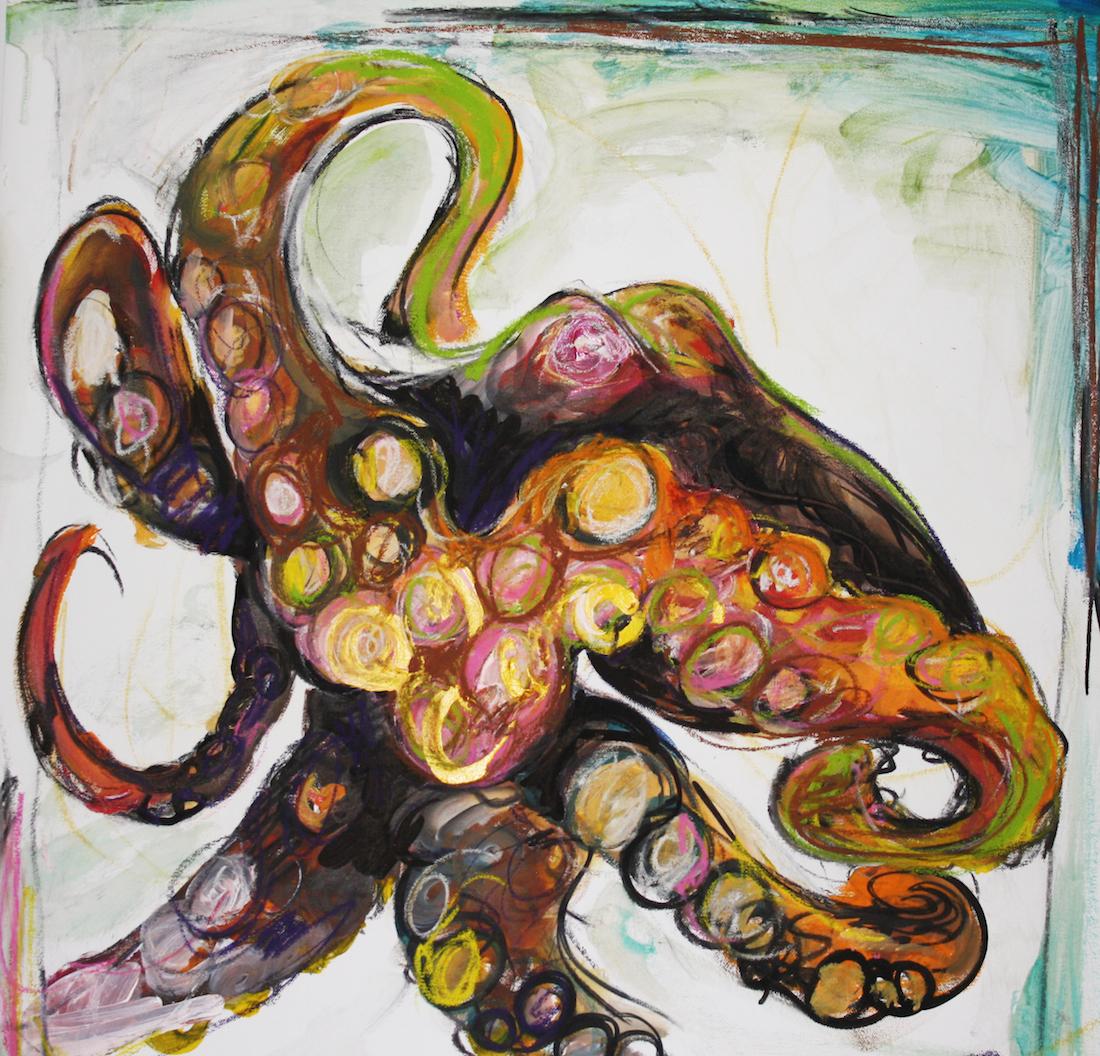"Title: Octopus #4 Medium: acrylic Size: 20""x20"""