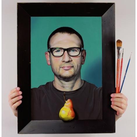 Title: Self portrait Medium: Mixed Media Size: 24 x 22in