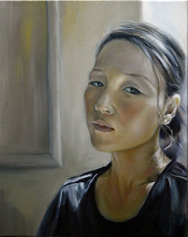 "TitleSelf Portrait   Mediumoil on canvas   Size16""X20"""