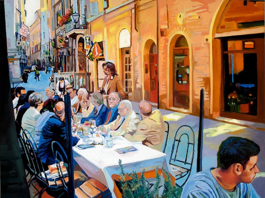 """TitleLast Supper On Banchi di Sotto   MediumOil   Size36"""" x 48"""""""