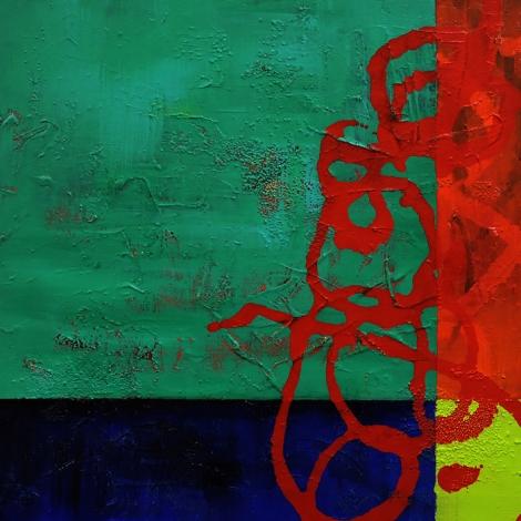 "Title: Traverse Medium: Acrylic & Mixed Media on Gallery Wrap Size: 24x24"""