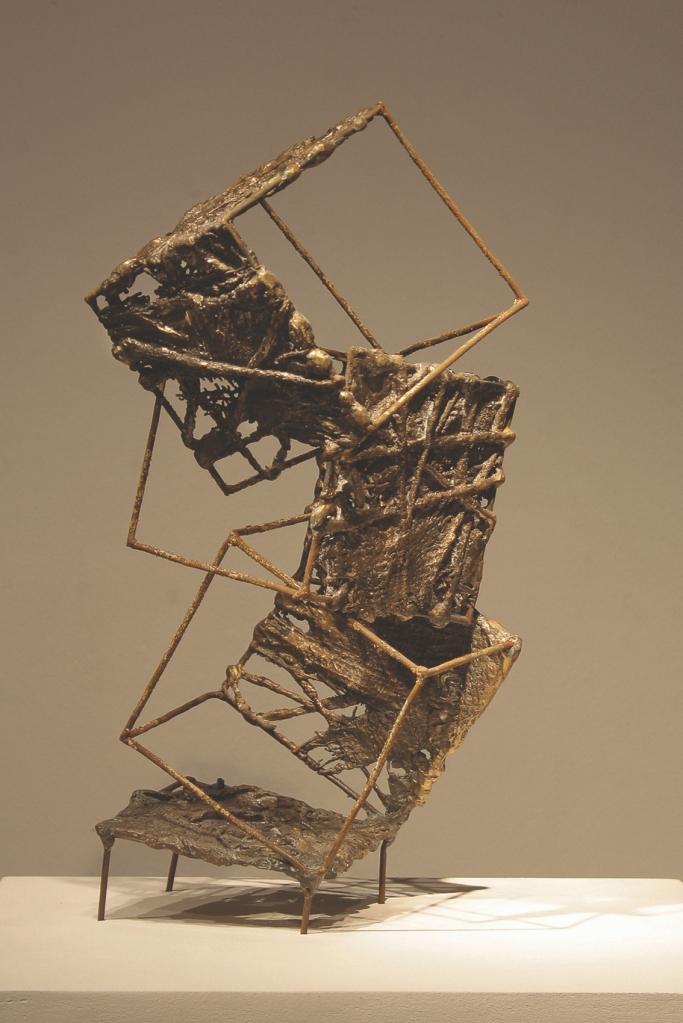 Sara Hupas, Cracor, Poland Title Climbing Medium bronze cast, welded wire Size 16x33x17cm