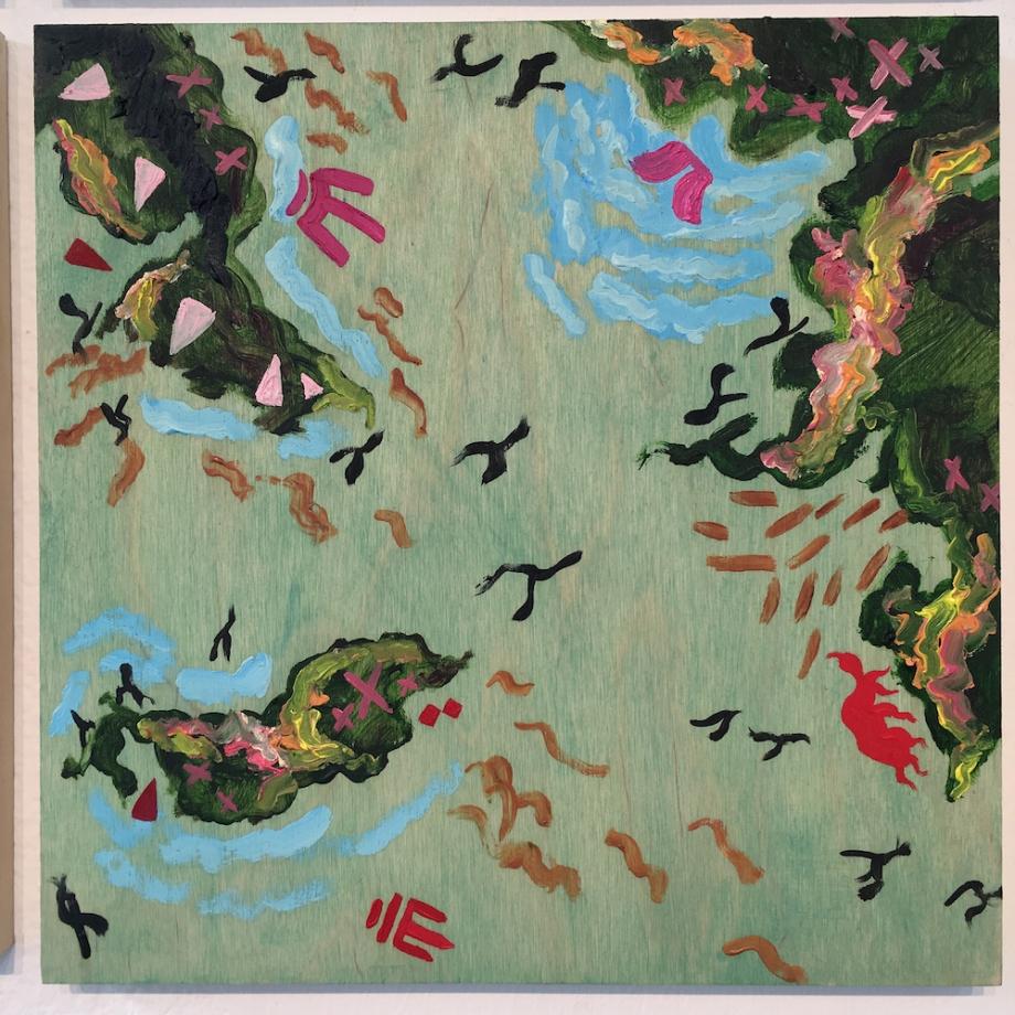 """Title:New World IX Medium:oil on wood Size:12"""" x 12"""""""