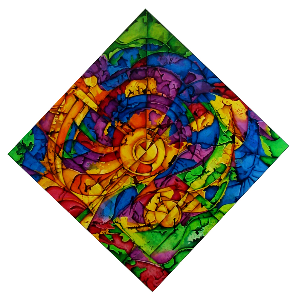 Title: Kaleidoscope Celebration Medium: Acrylic Size: 51 x 51 in