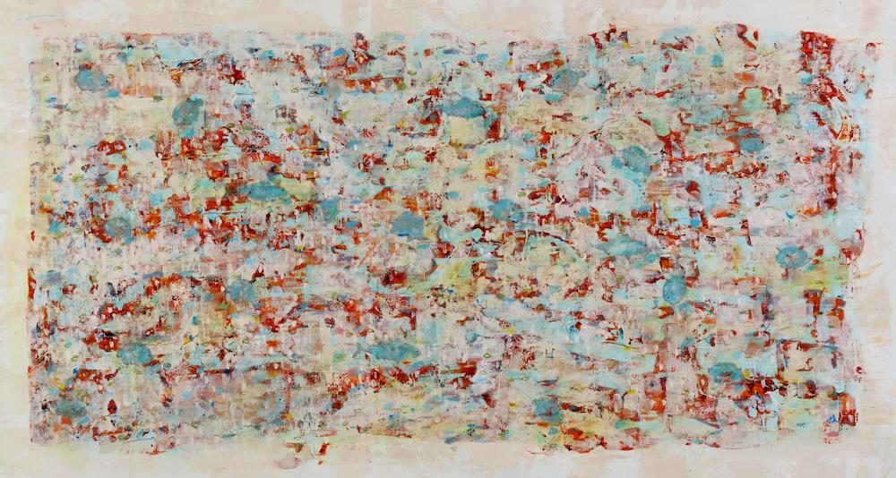 Title: Wandering fish Medium: acrylic on canvas Size: 97x163cm