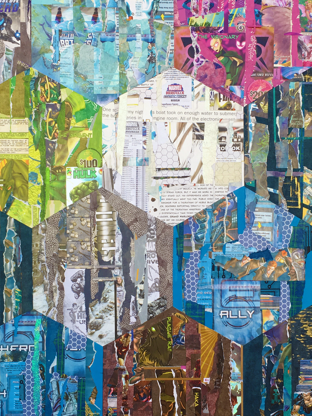 """Title: The Visionary Medium: Collage Size: 18 x 24"""""""