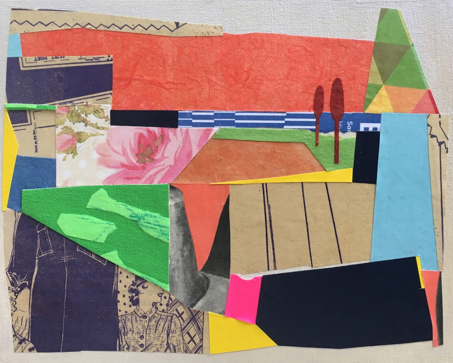 "Title:L.A. Sunset Medium:Collage Size:8 x 10"""
