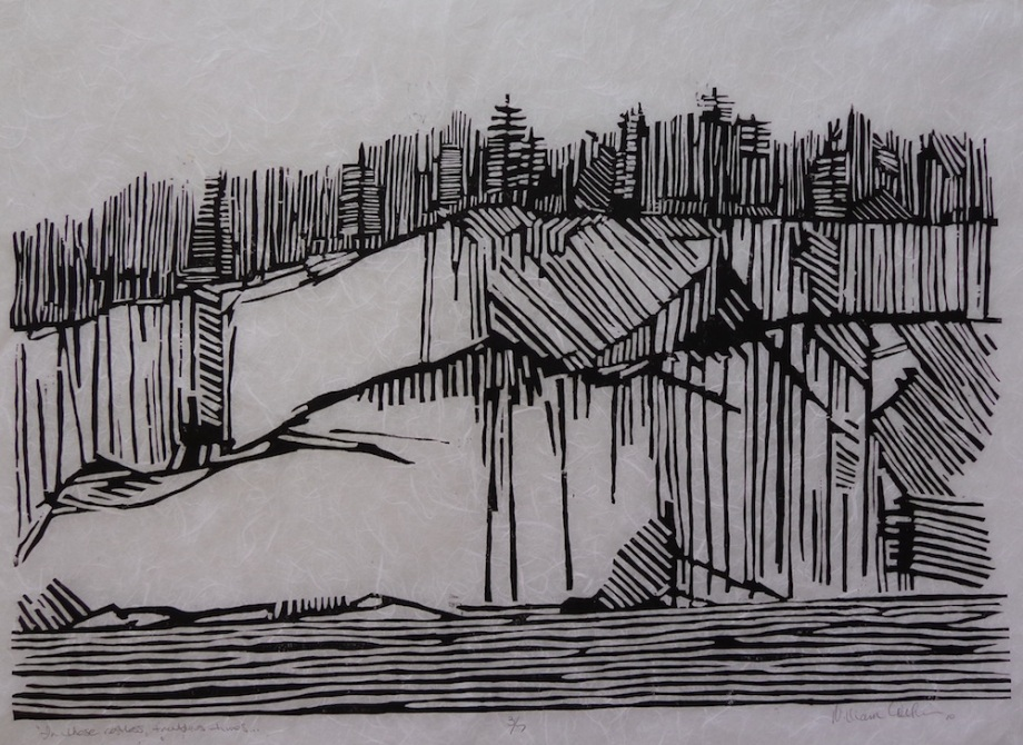 """Title:In These Restless Troublous times Medium:Wood Block Print Size:18 1/2"""" x 27 3/4"""""""