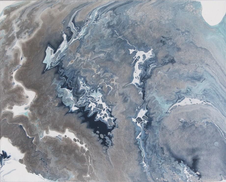 "Title:Glacier Medium:Fluid Acrylics Size:16"" X 20"""