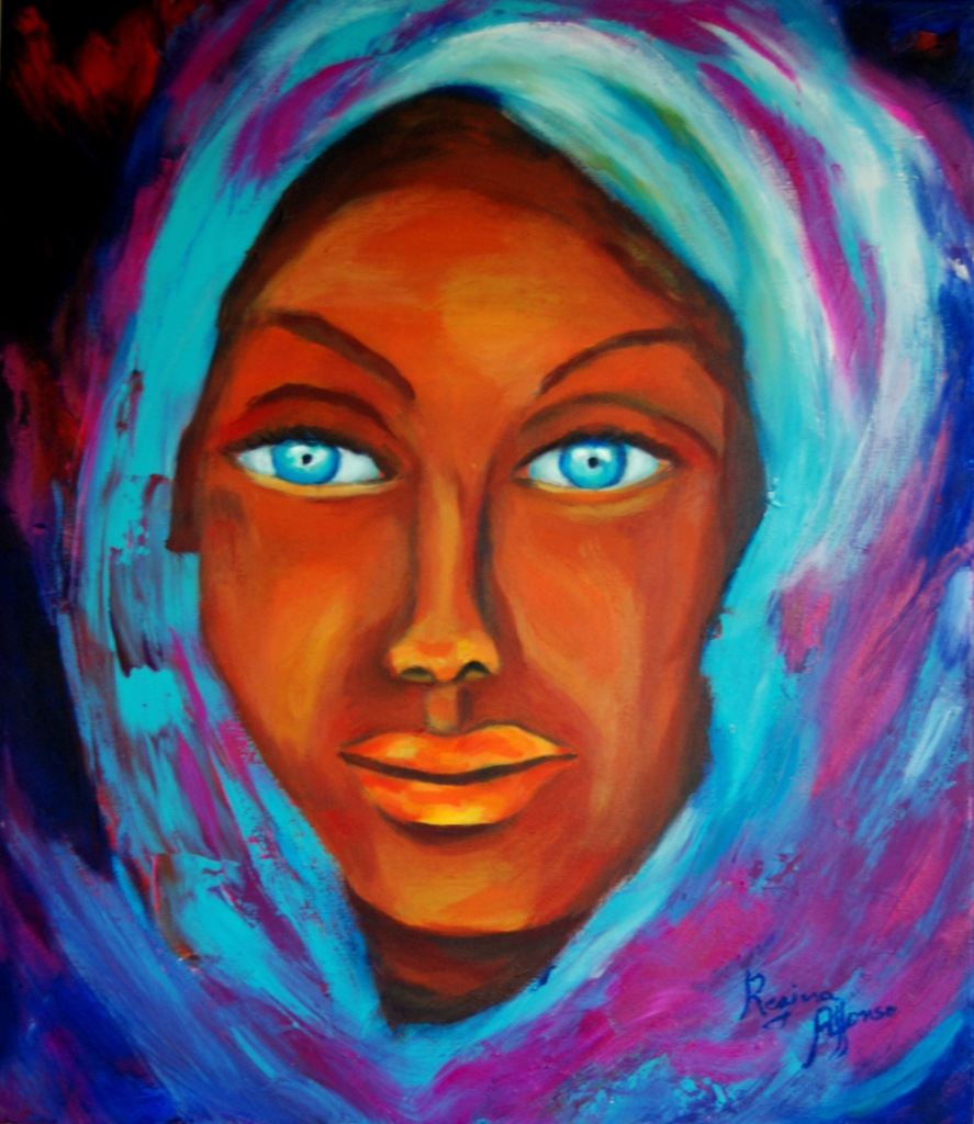 Title:Black beauty Medium:avrylic s/ canvas Size:50X60cm