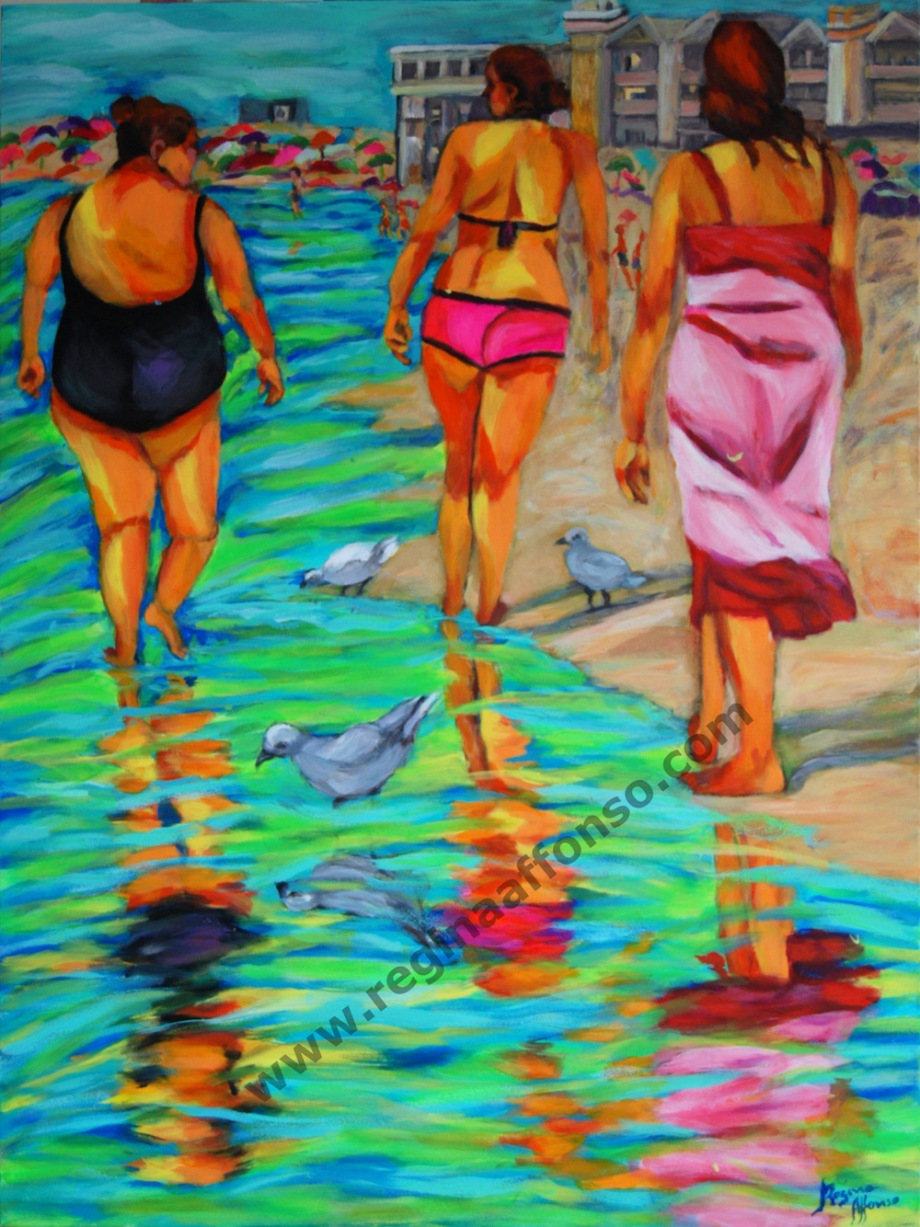 Title: Barra's beach Medium: acrylic s/ canvas Size: 60X80cm